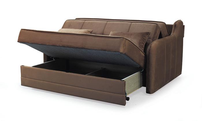 4 ספה דו מושבית נפתחת למיטה זוגית Or Design דגם דרו