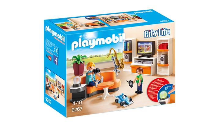2 פליימוביל Playmobil: סלון מגורים