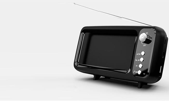 2 רמקול Bluetooth בעיצוב רטרוChargeProבמגוון צבעים לבחירה