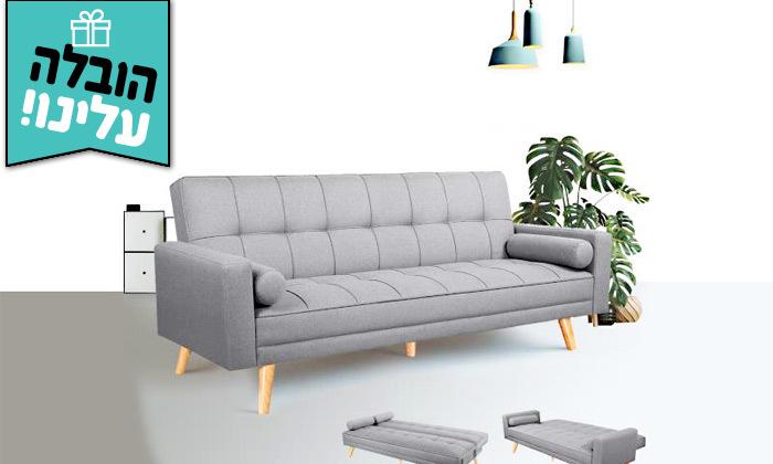 2 ספה נפתחת למיטה GAROX דגם שירלי - משלוח חינם