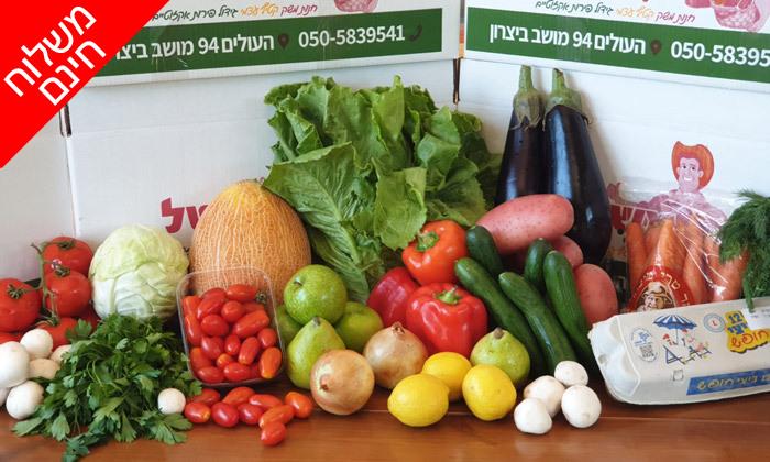 3 מארזי פירות, ירקות וביצים במשלוח חינם, באר שבע עד חדרה