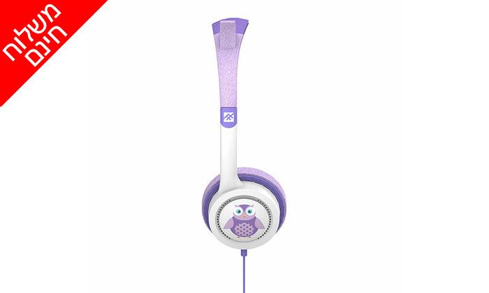 5 אוזניות קשת לילדיםiFrogz Little Rockerz דגם ינשוף - משלוח חינם