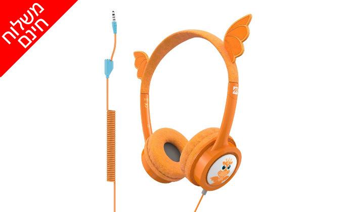 3 אוזניות קשת לילדיםiFrogz Little Rockerz דגם דרקון - משלוח חינם