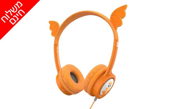 2 אוזניות קשת לילדיםiFrogz Little Rockerz דגם דרקון - משלוח חינם