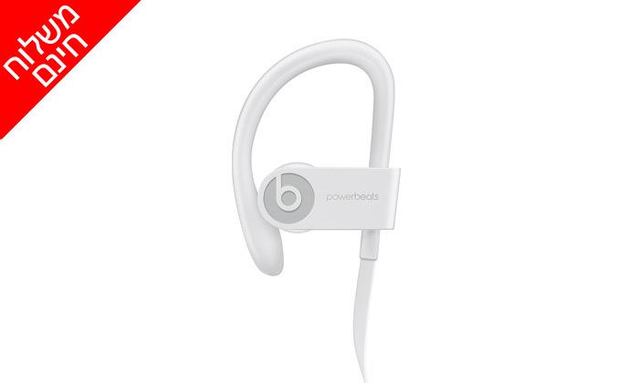 5 אוזניות Beats by Dre Powerbeats 3 בצבע לבן - משלוח חינם