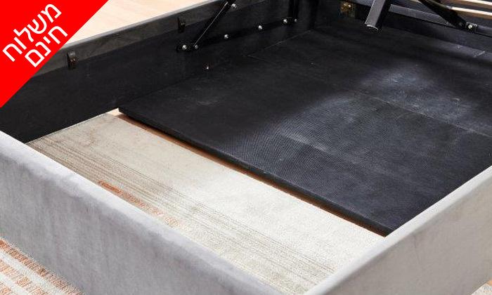 3 מיטה זוגית מרופדת עם ארגז מצעים דגם לדיווה - משלוח חינם