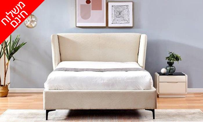 5 מיטה זוגית מרופדת עם ארגז מצעים דגם לדיווה - משלוח חינם