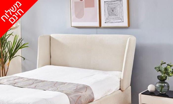 7 מיטה זוגית מרופדת עם ארגז מצעים דגם לדיווה - משלוח חינם