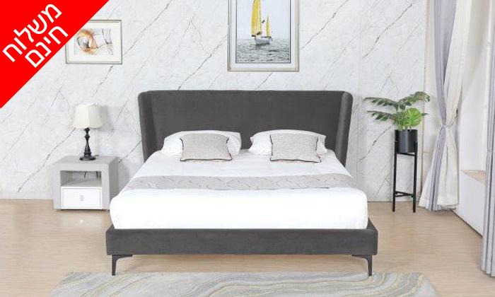 8 מיטה זוגית מרופדת עם ארגז מצעים דגם לדיווה - משלוח חינם