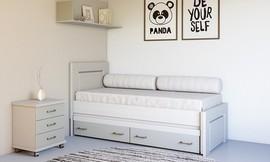 מיטת ילדים עם מיטת חבר ומגירות