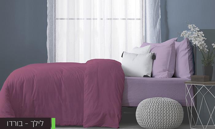 3 סט מצעים מלא למיטה זוגיתעשוי בד ג'רסי 100% כותנה