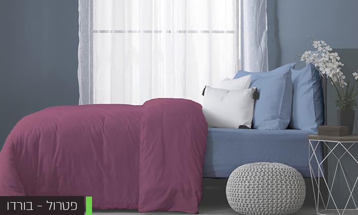4 סט מצעים מלא למיטה זוגיתעשוי בד ג'רסי 100% כותנה