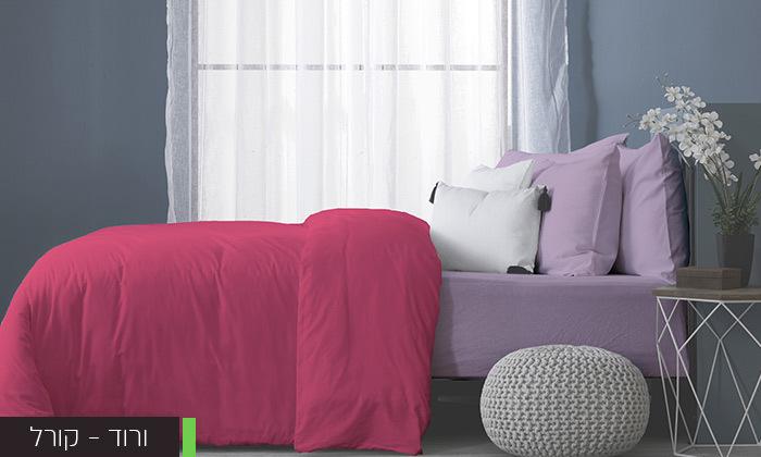 5 סט מצעים מלא למיטה זוגיתעשוי בד ג'רסי 100% כותנה