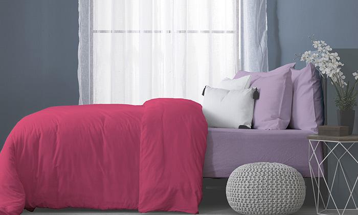2 סט מצעים מלא למיטה זוגיתעשוי בד ג'רסי 100% כותנה