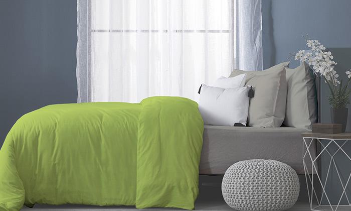 9 סט מצעים מלא למיטה זוגיתעשוי בד ג'רסי 100% כותנה