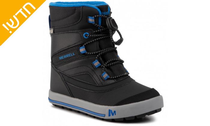 2 מגפיים לילדים וילדות מירל MERRELL בצבע שחור