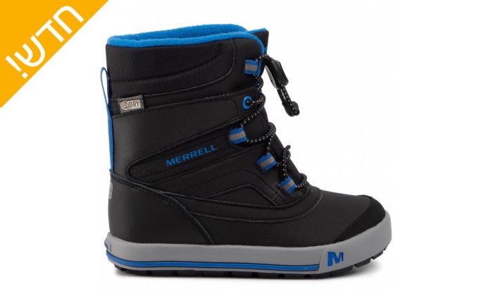 3 מגפיים לילדים וילדות מירל MERRELL בצבע שחור