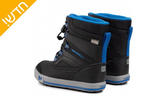 4 מגפיים לילדים וילדות מירל MERRELL בצבע שחור