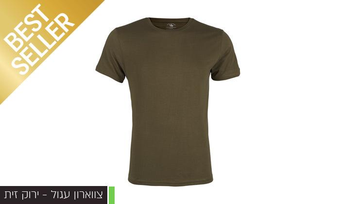 3 מארז 5 חולצות טי שירט לגבר POLO CLUB