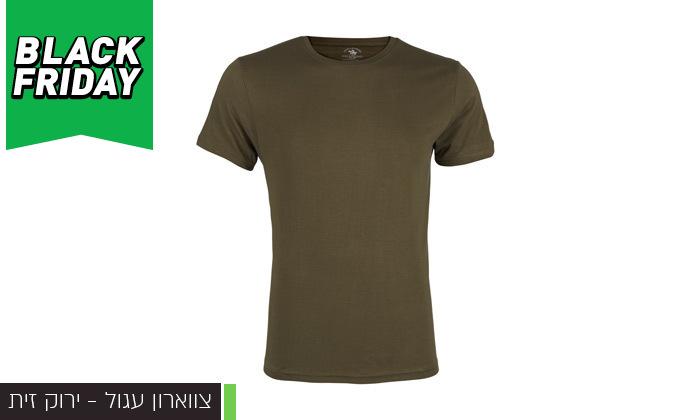 3 מארז 6 חולצות טי שירט לגבר POLO CLUB