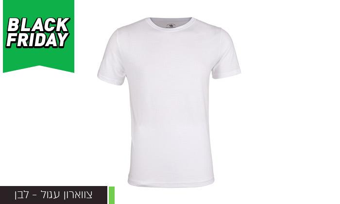5 מארז 6 חולצות טי שירט לגבר POLO CLUB