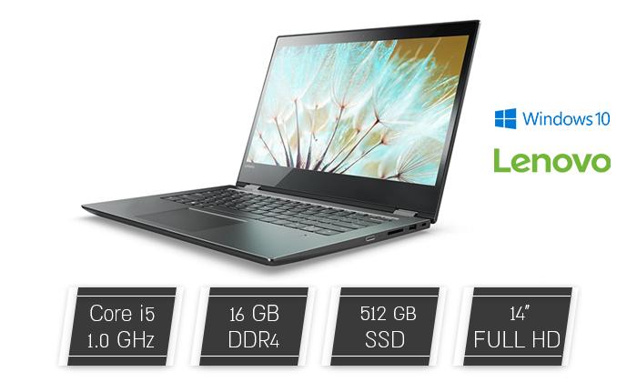 """2 מחשב נייד מעודפים Lenovo, דגם FLEX 5 עם מסך מגע """"14, זיכרון 16GB ומעבד i5"""