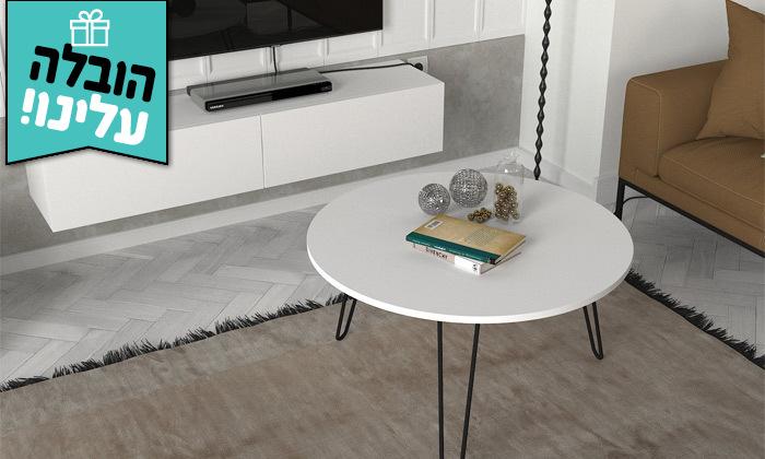 22 סט שולחן סלון עגול ומזנון צף במבחר גדלים - משלוח חינם