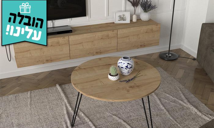 2 מזנון צף 1.8 מטר ושולחן סלון עגול במגוון דגמים לבחירה- משלוח חינם