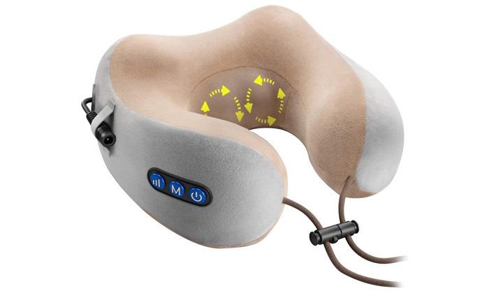 3 כרית עיסוי נטענת לצוואר עשויה MEMORY FOAM
