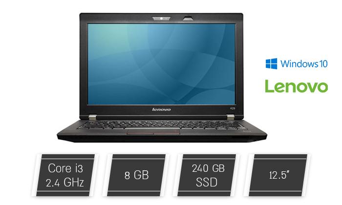 """2 מחשב נייד Lenovo דגם K29 עם מסך """"12.5, זיכרון 8GB ומעבד i3 - משלוח חינם"""
