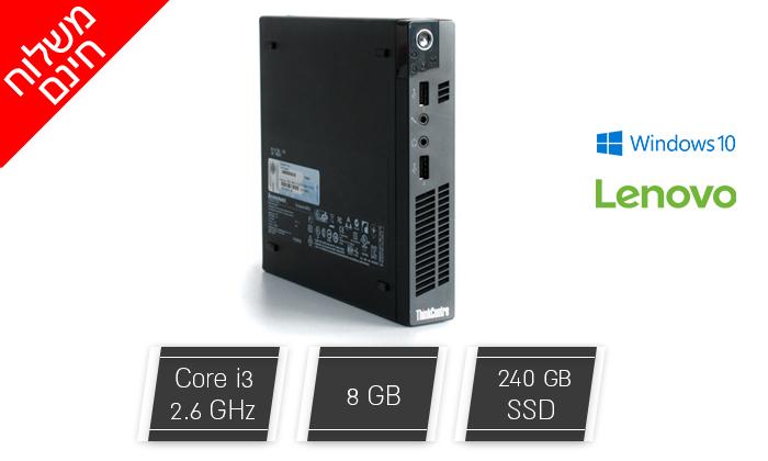 2 מחשב נייח מחודש לנובו Lenovo דגם M72E Tiny עם זיכרון 8GB ומעבד i3 - משלוח חינם