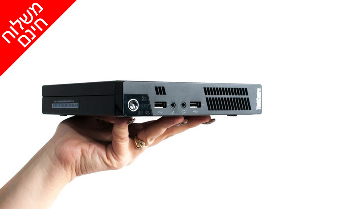 3 מחשב נייח מחודש לנובו Lenovo דגם M72E Tiny עם זיכרון 8GB ומעבד i3 - משלוח חינם
