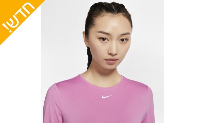 3 חולצת ספורט עם שרוול ארוך לנשים נייקי Nike