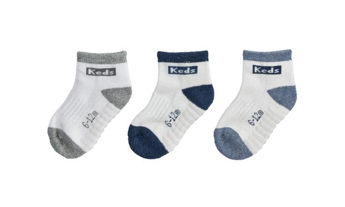 4 מארז 24 זוגות גרביים ללא תפר לתינוקות קדס KEDS