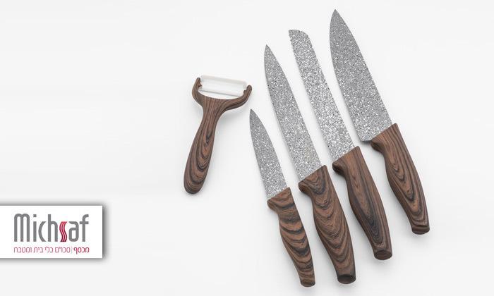2 סט 4 סכינים וקולפןMichsaf דגם אופל
