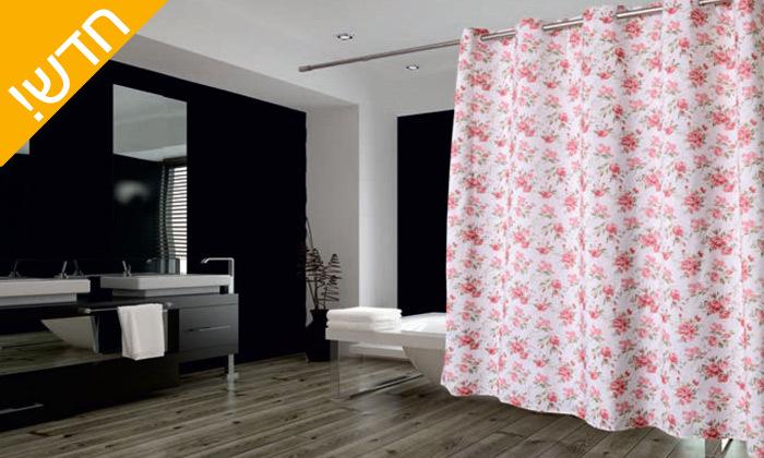 6 וילון אמבטיה דגם טיאנה - גדלים וצבעים לבחירה