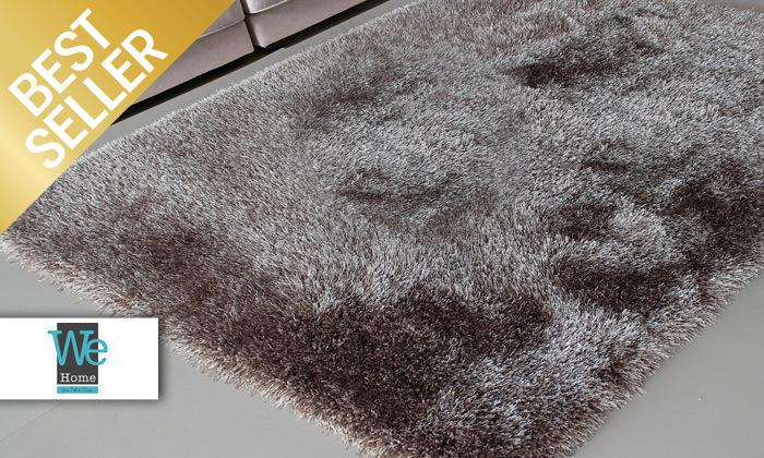2 שטיח שאגי בצבעים וגדלים לבחירה WE HOME דגם סופי