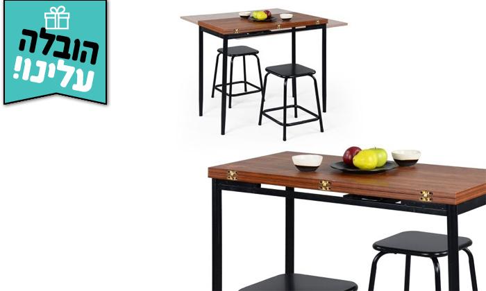 6 שולחן אוכל נפתח Homax דגם קלינטון - משלוח חינם