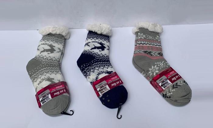 2 מארז 2 זוגות גרביים עבים אנטי סליפ לנשים או לילדים לבחירה