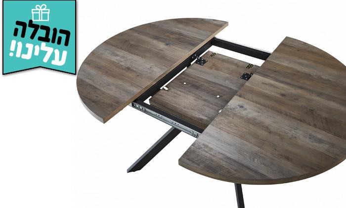 3 פינת אוכל במראה עץ טבעי ויטוריו דיוואני, דגם אלאמוס - משלוח חינם