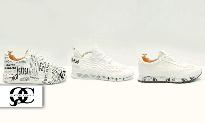 2 נעלי סניקרסQuattro Cavalli לגברים במגוון דגמים לבחירה