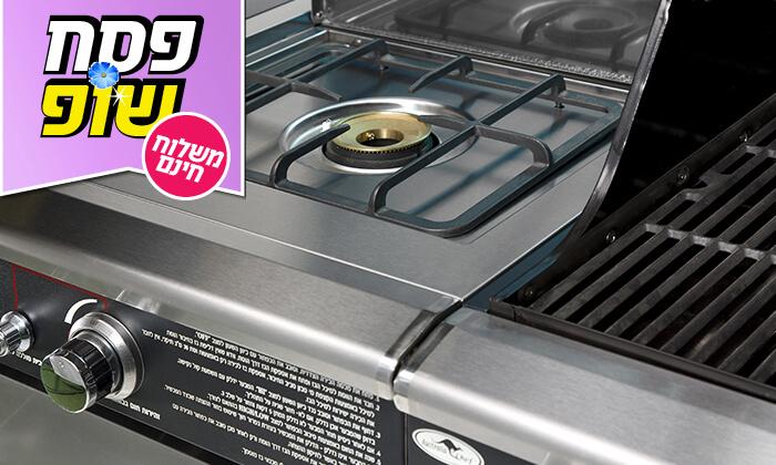 5 גריל גז בעל מבער אחורי Australia Chef - משלוח חינם