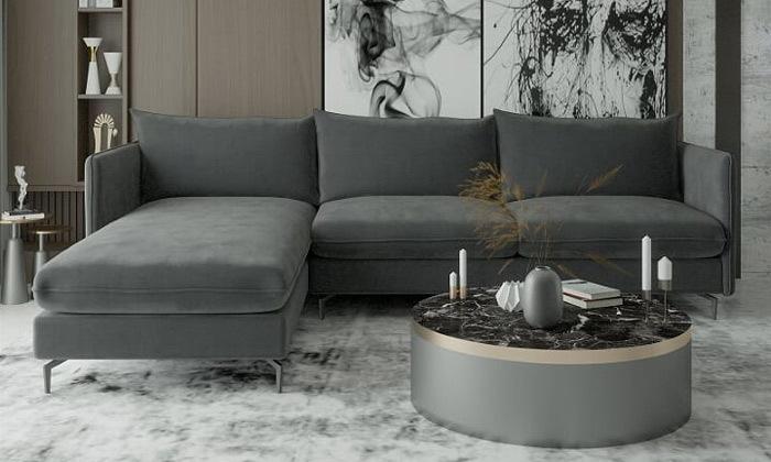2 ספת שזלונג פינתית House design, דגם לירון בשני גדלים לבחירה