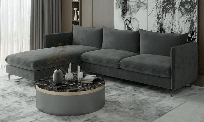 3 ספת שזלונג פינתית House design, דגם לירון בשני גדלים לבחירה