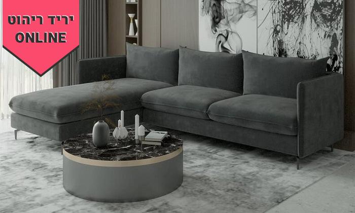 3 ספת שזלונג פינתית House design דגם לירון - מידות לבחירה