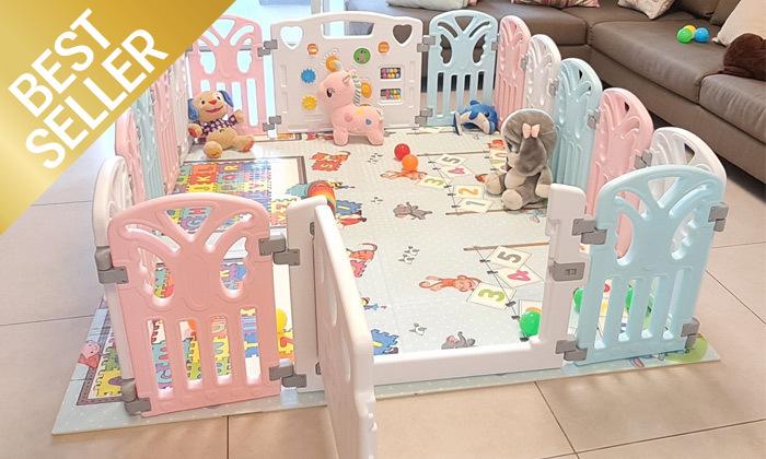 2 גדר פעילות לילדים ולתינוקות דגם pino
