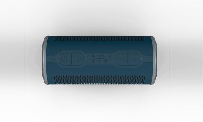 5 רמקול נייד BRAVEN בצבע כחול