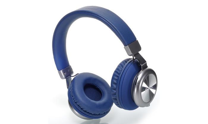 3 אוזניות אלחוטיות BLACK בצבע כחול