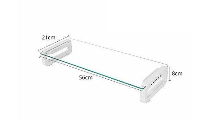 4 מעמד למסך מחשב עם חיבורי USB