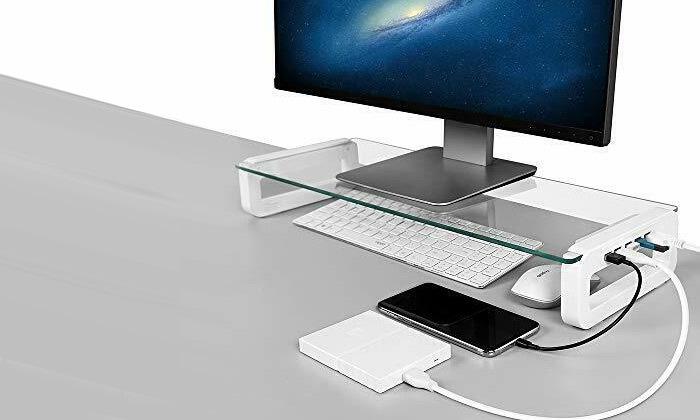 5 מעמד למסך מחשב עם חיבורי USB
